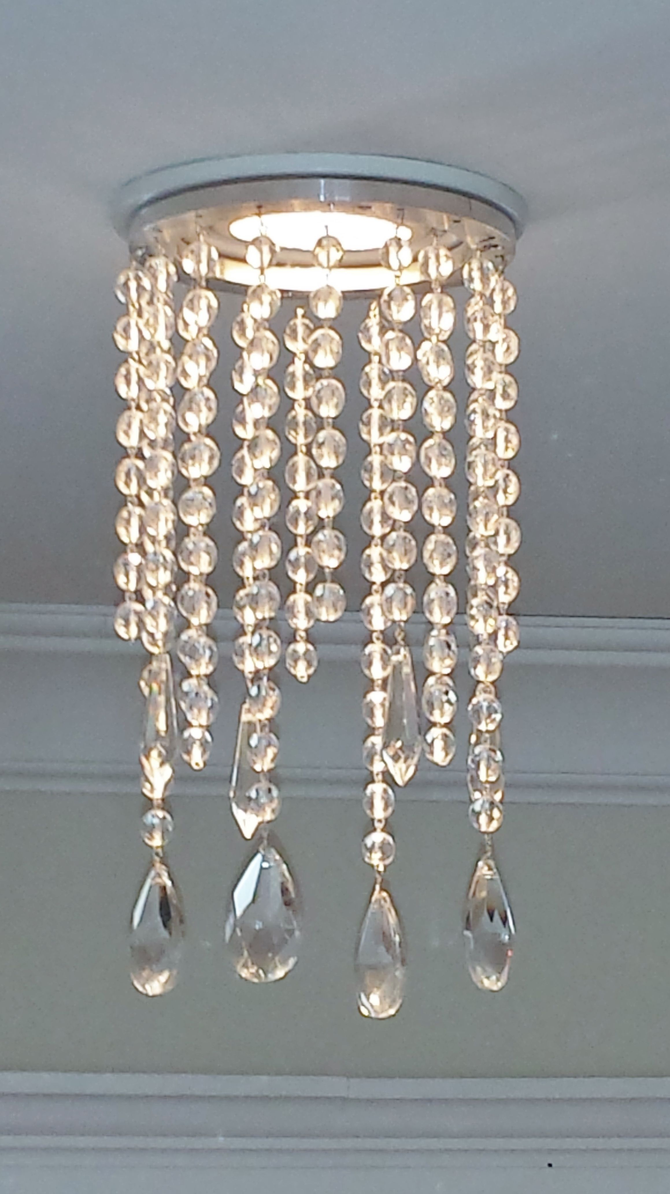 Magnetic Potlight Recessed Light Chandelier In Clear Crystal Outer Trim Measures 4 5 And Inner