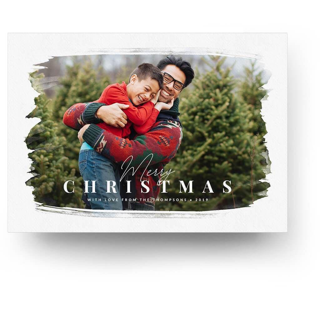 Brushed Christmas Card Christmas Cards Christmas Cards Photography Photoshop Christmas Card Template