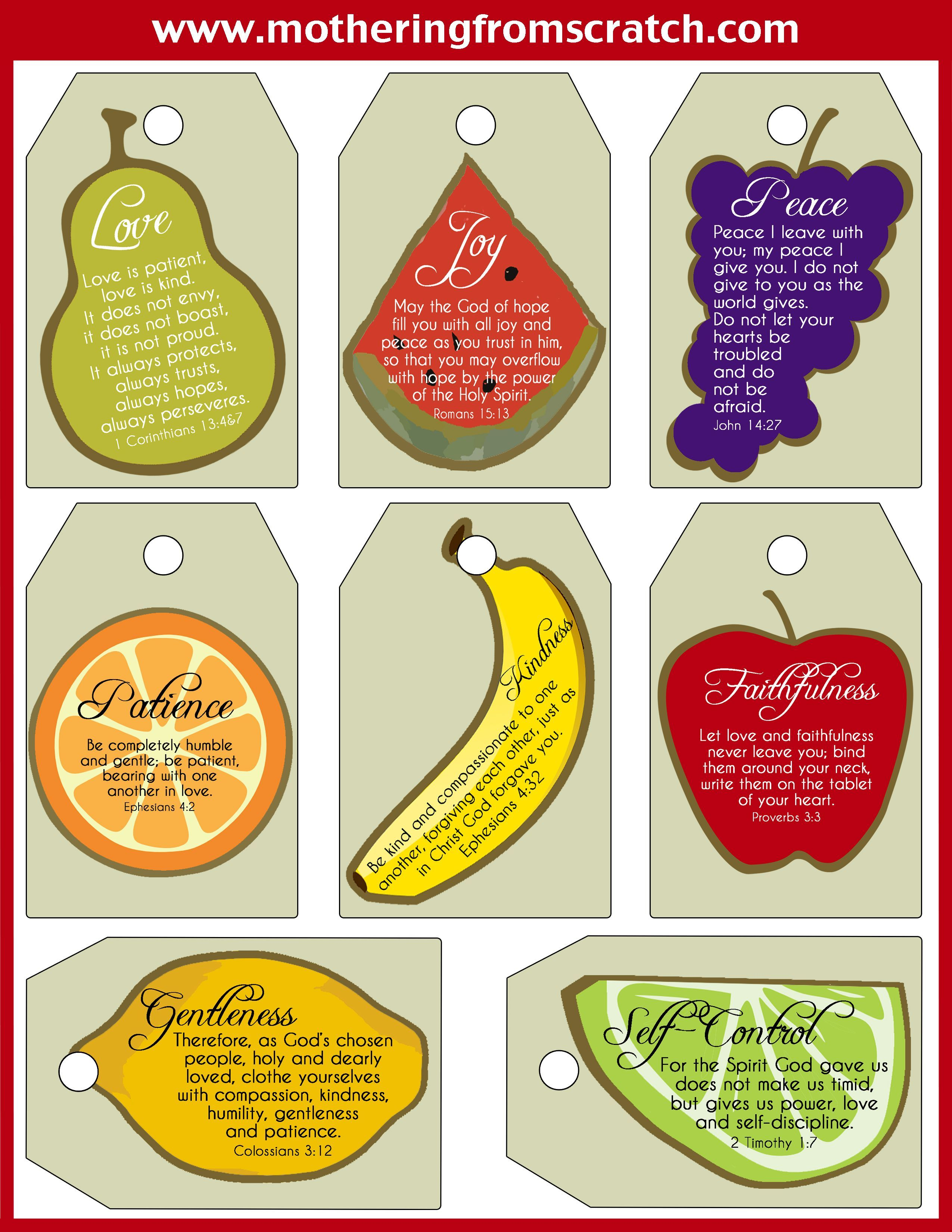 Fruit Of The Spirit Kindness Cards Childrens Church