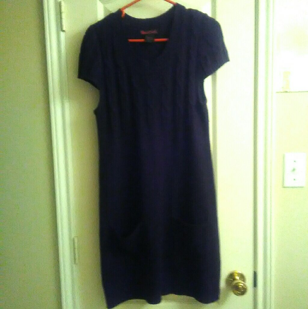 Purple Sweater Dress Size Large | Products