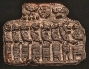 Sumerian tablet, depicting Reptilian humanoids | ECLECTIC, RARE
