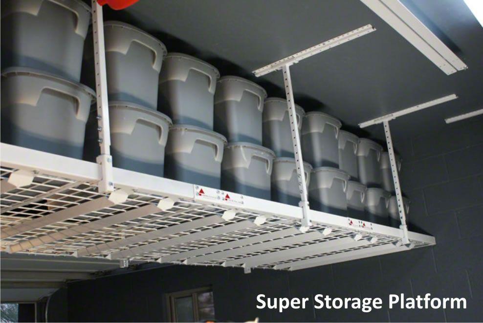 Garage Ceiling Storage Overhead Storage Racks By Strong Racks Garage Ceiling Storage Overhead Stora In 2020 Overhead Storage Rack Garage Shelving Overhead Storage