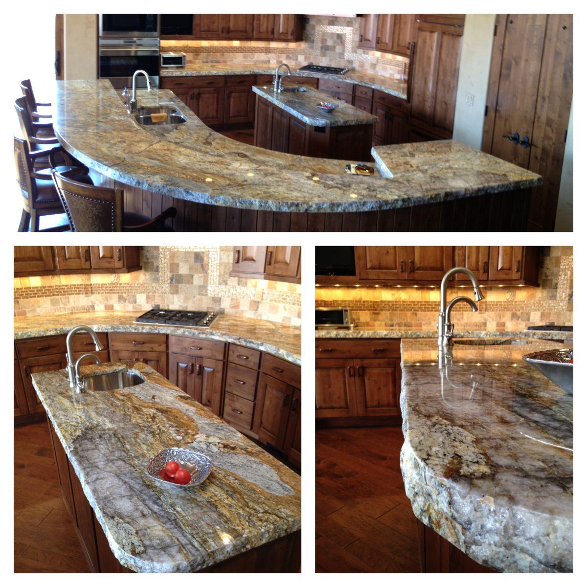 GOLDEN RAY GRANITE. Odd Backsplash. The Granite Gurus: Golden Ray Granite  Kitchen From