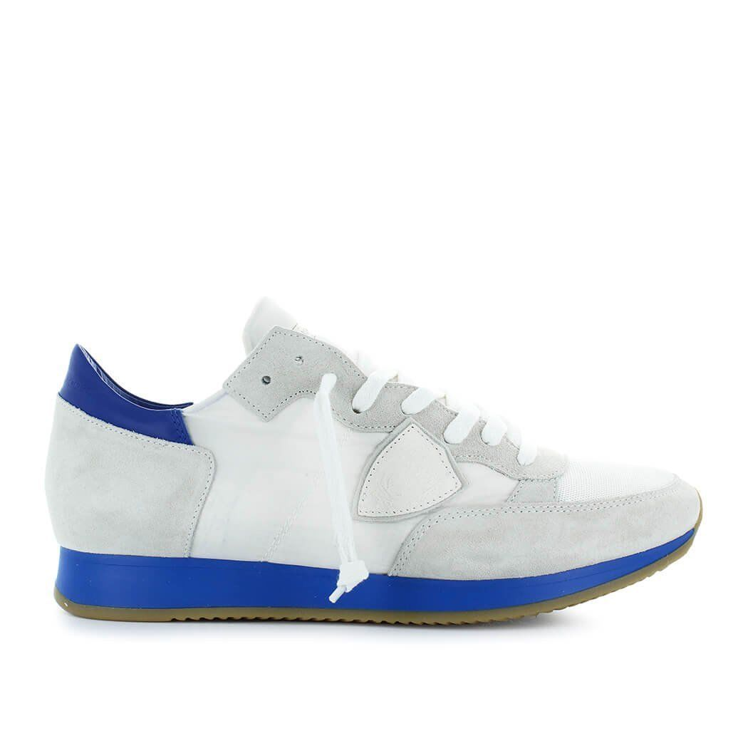 White and neon-pink Tropez sneakers Philippe Model AYlyMNwW2