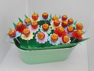 Lollipops flower pot