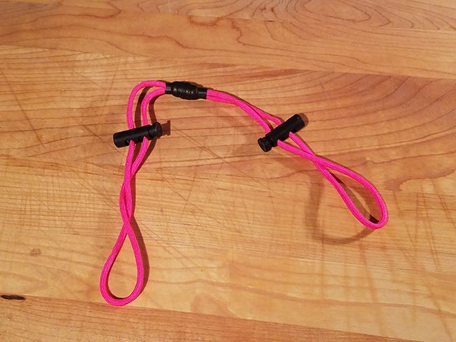 Pink Cord with Black Plastic Cord Lock. High Quality, American Made with 600lb Paracord and Black Plastic Cord Lock $1.99 Free Shipping!
