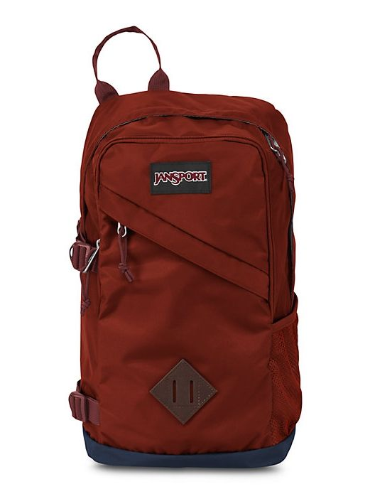 The new JanSport Bowery Backpack in Burnt Henna featuring a single ...