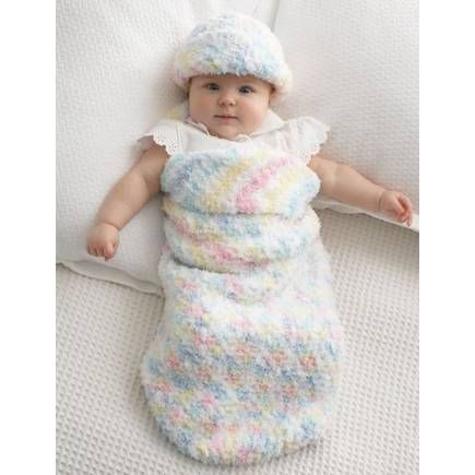 Free Pattern Bernat Baby Cocoon And Hat | Hobbycraft | Crochet ...