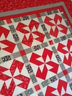 Raspberry Licorice Quilt by Sew Well Maide