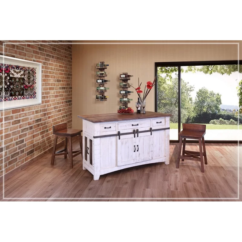 Gracie Oaks Coralie Kitchen Island Reviews Wayfair Kitchen Island With Granite Top Wood Kitchen Island Wood Kitchen