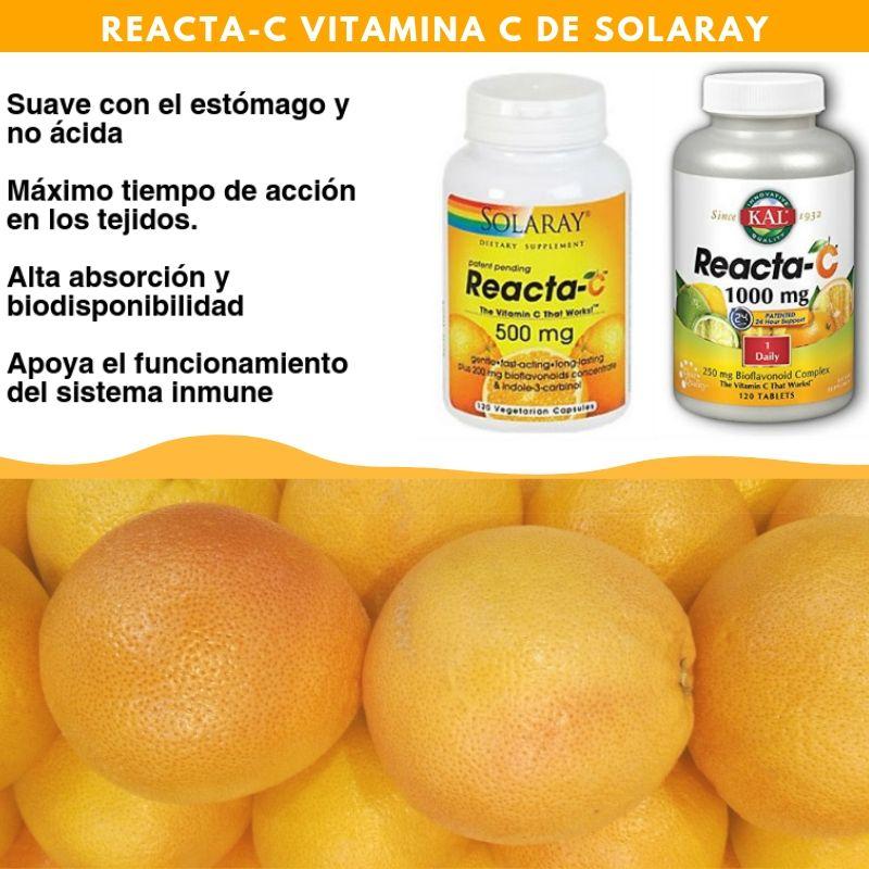 La Vitamina C Reacta C Esta Formulada Para Una Accion Mas Rapida Y