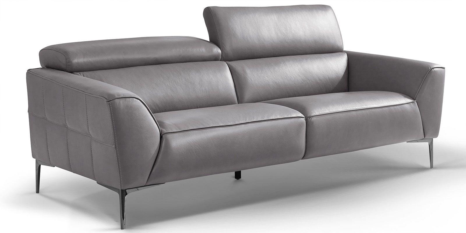 3 Sitzer Design Ledercouch Lazio Mit Chromfussen Comfort2home Ledercouch Couch Bequemes Sofa