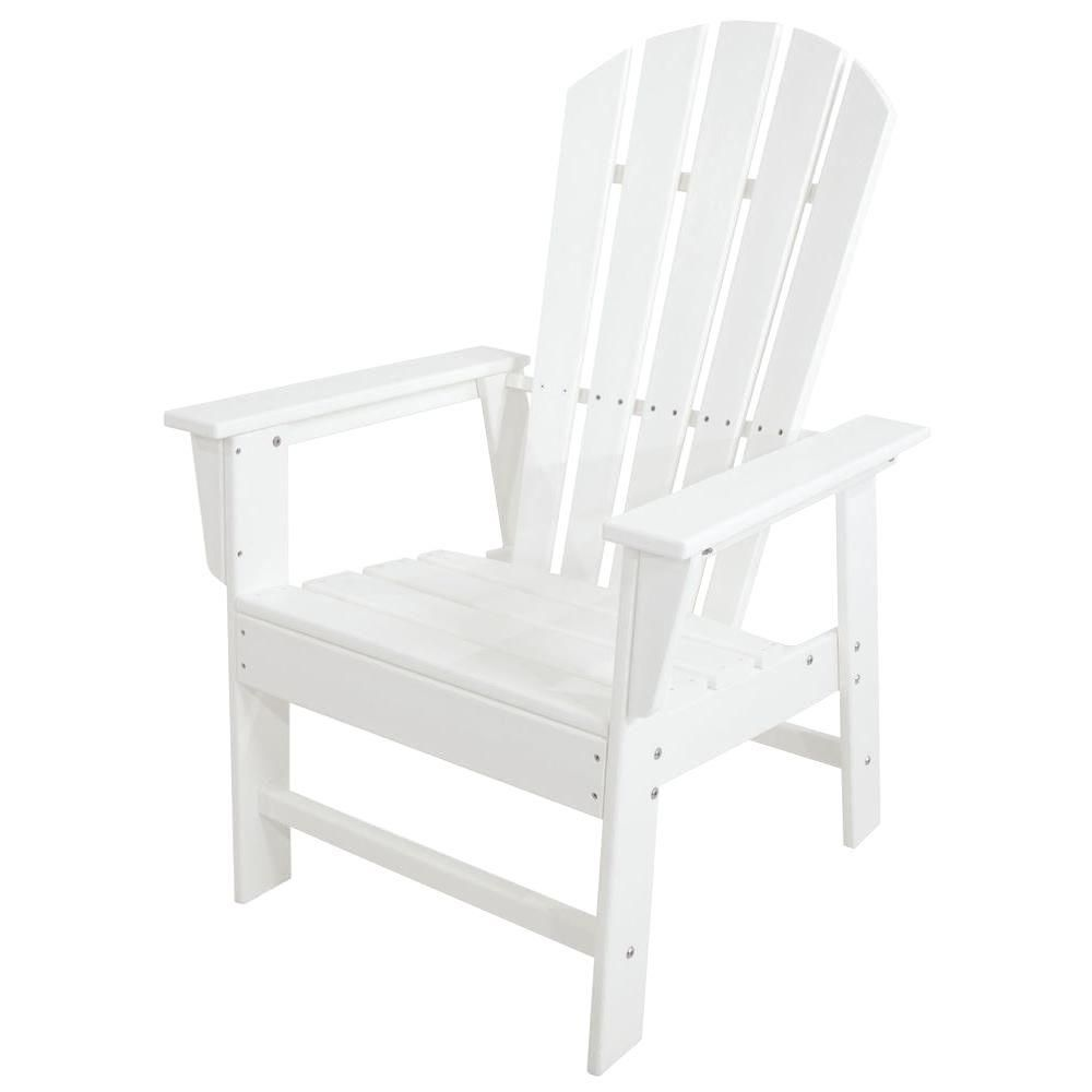 Polywood South Beach White All Weather Plastic Outdoor Dining Chair Sbd16wh Outdoor Dining Chairs South Beach Dining Patio Dining Chairs