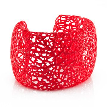 Rhizome Cuff Red now featured on Fab. - I want this, but I know it won't fit. Thought about getting it anyway, but even if I lose weight, it will still be too small for my wrist