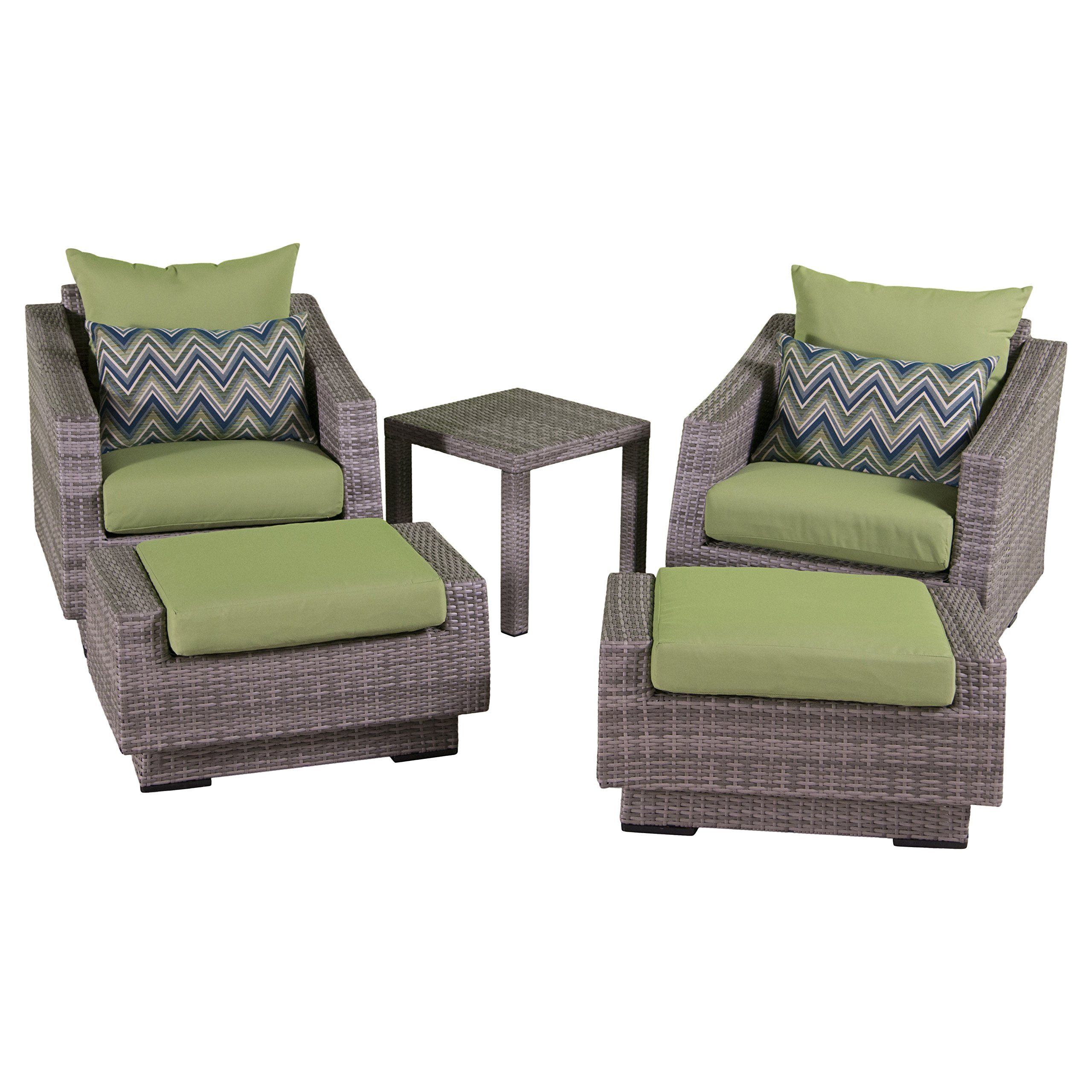 Amazon RST Brands 5 Piece Cannes Club Chair and Ottoman