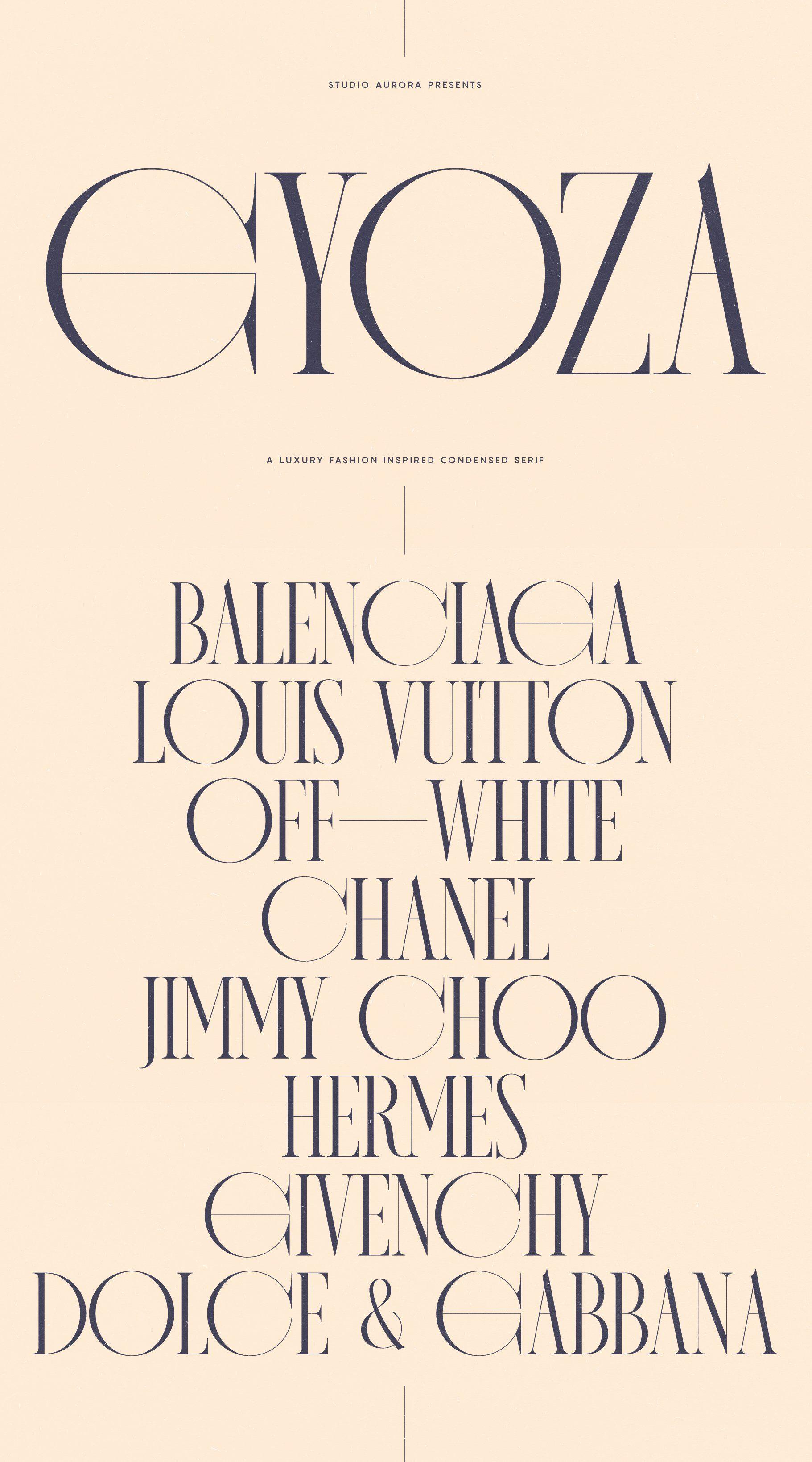 Gyoza Luxury Fashion Condensed Serif by Studio Aurora on @creativemarket