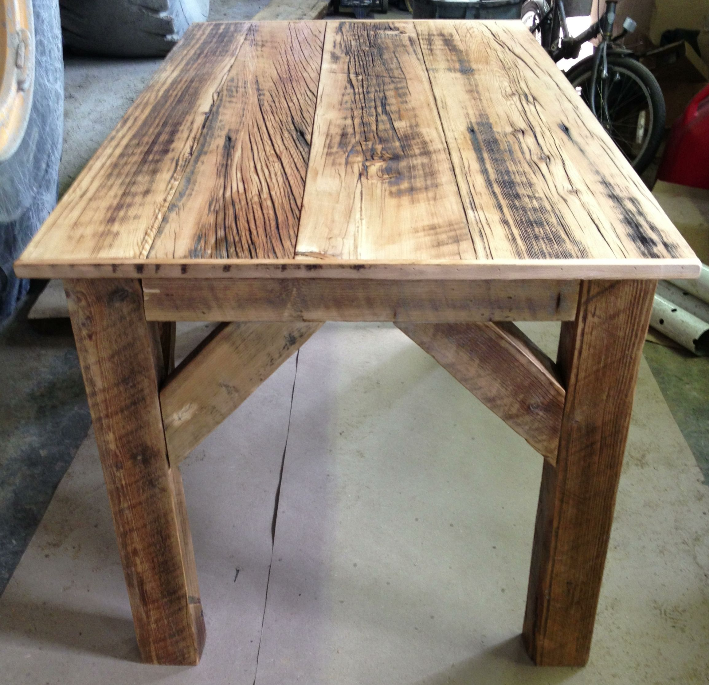 Homemade barn wood desk for michelle 39 s studio barn wood pinterest barn wood desks and barn Homemade wooden furniture