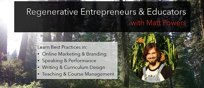 New Course!! Best Practices for Regenerative Entrepreneurs