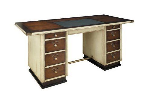 Ivory and Black Wood Captain's Desk by Universal Lighting and Decor. $1605.70. in Ivory. Sturdily made of cherry and maple. Brass corners to protect from damage when being moved around.. Sea captains of old made good use of notoriously cramped quarters in the ship's stern section. Their desks were tailor made to offer maximum comfort and space in a minimal floor area, with drawers to house sealed sailing instructions, logbooks, charts, instruments and a pair of flintlock ...
