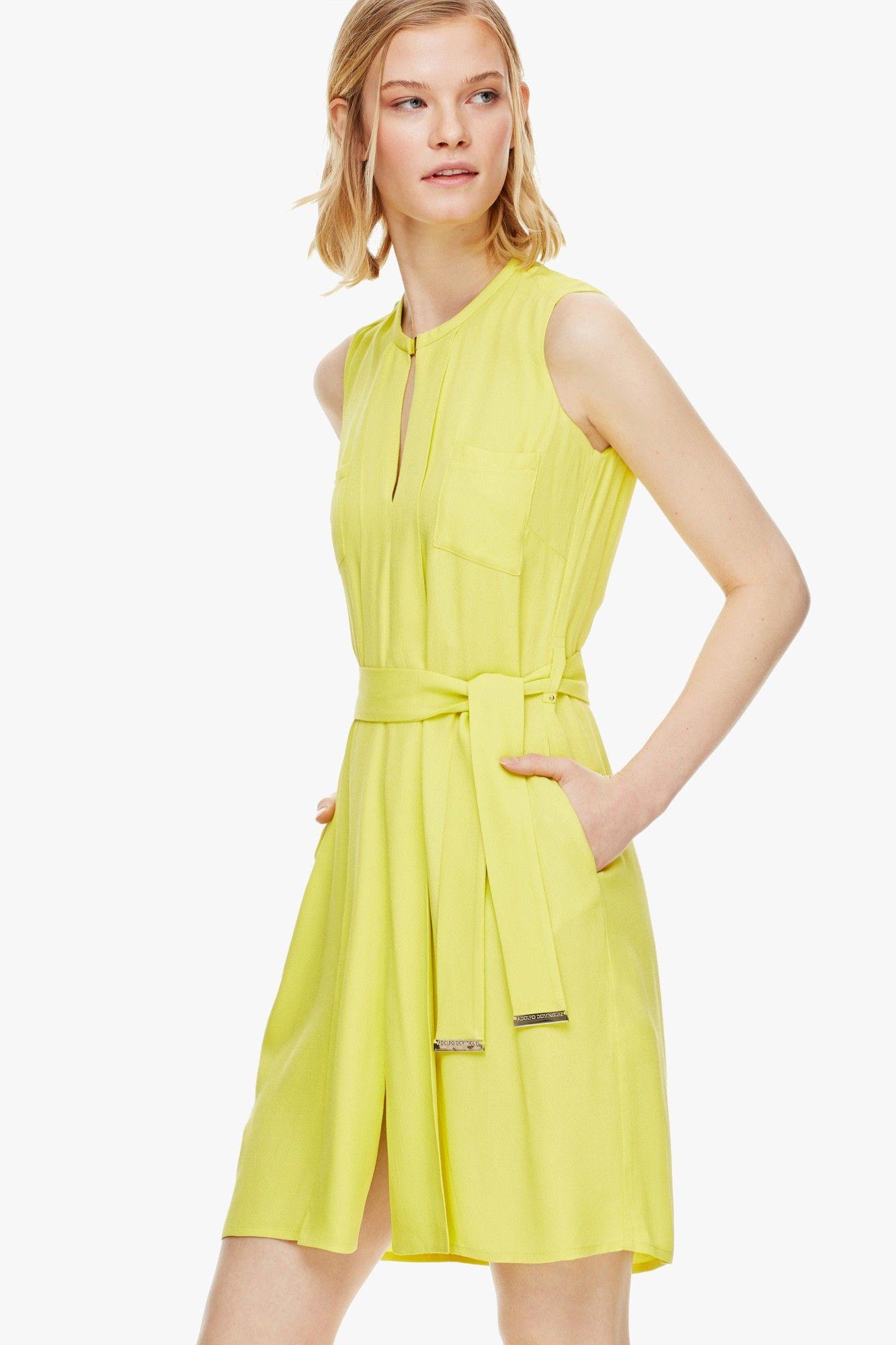 Vestido camisero en crep fluido vestidos adolfo for Vestidos adolfo dominguez outlet online