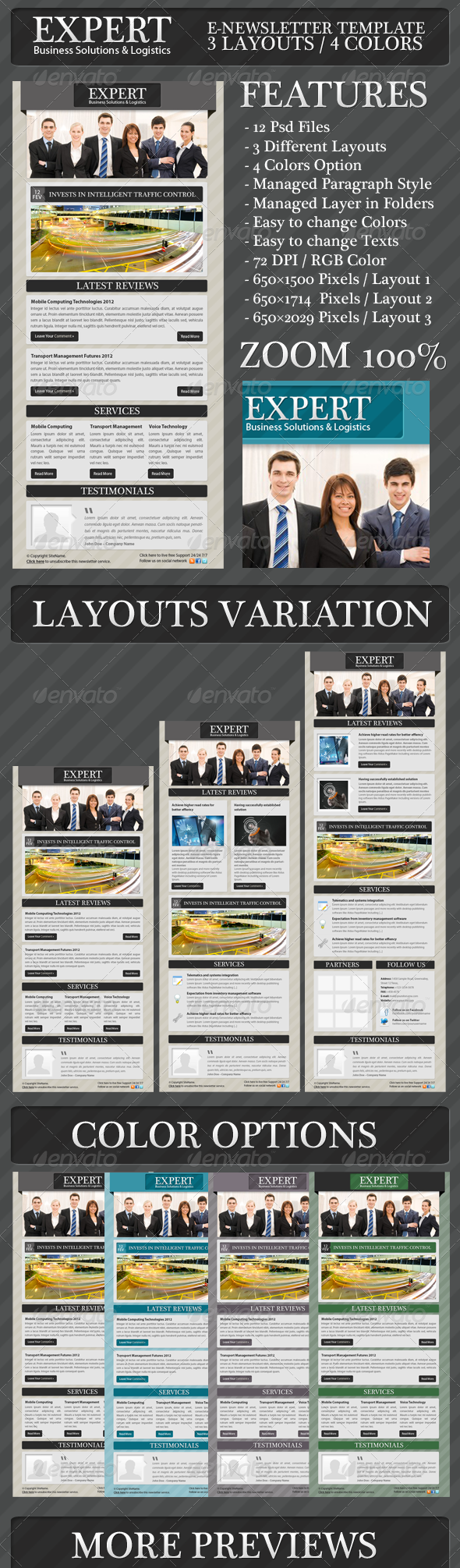 Expert Business Solution E-newsletter Template   Pinterest ...