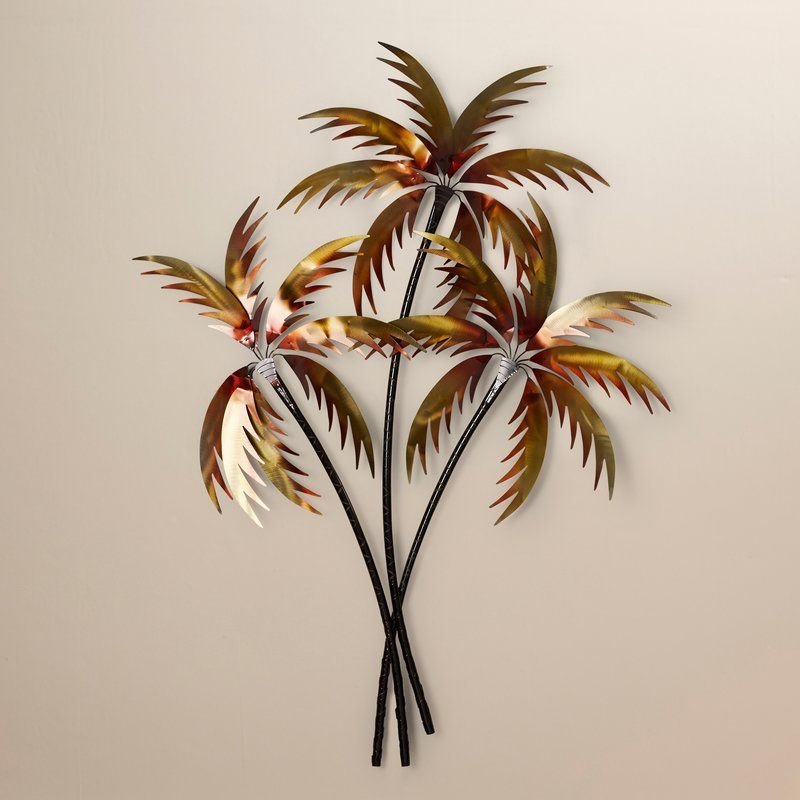 7 Copper Palm Trees Wall Décor  Tropical wall decor, Tropical