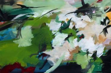 "Saatchi Art Artist Ute Laum; Painting, ""Abstract painting Es gruent so gruen (verdancy)"" #art"