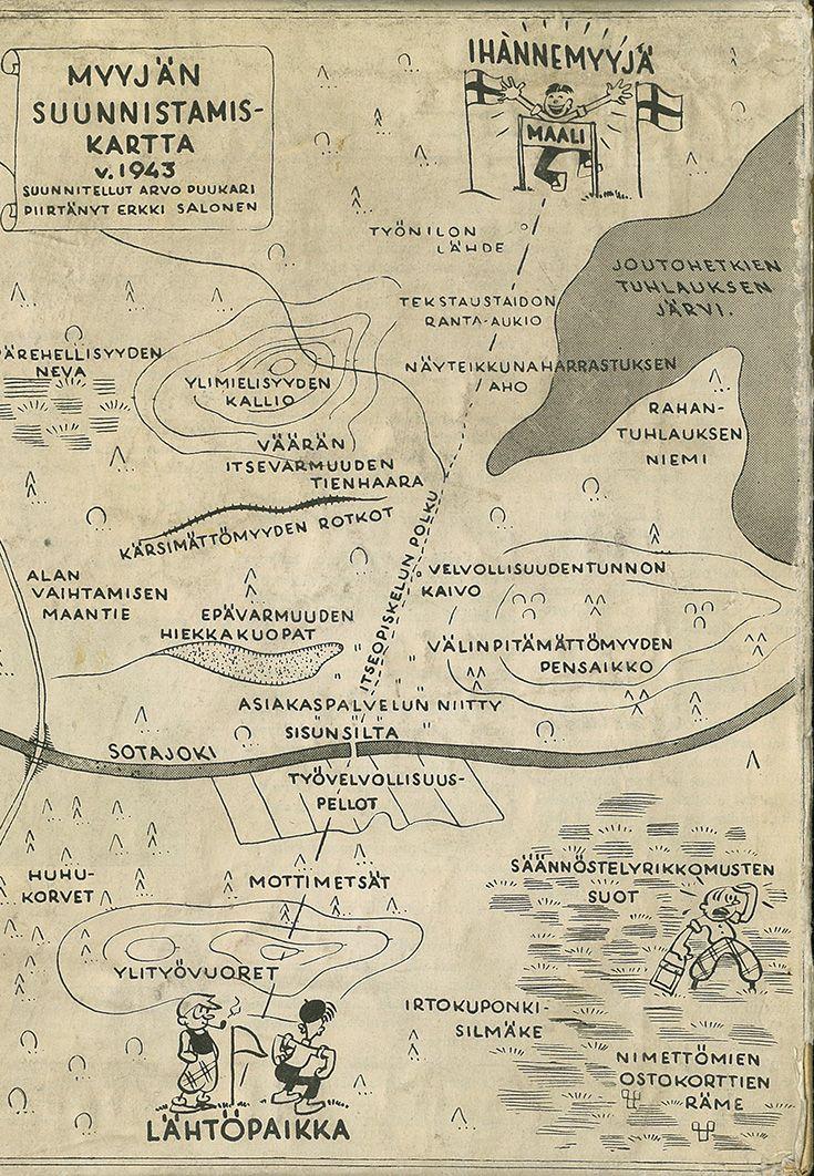 Vuonna 1943 tehdyn myyjän suunnistamiskartan opit pätevät yhä.