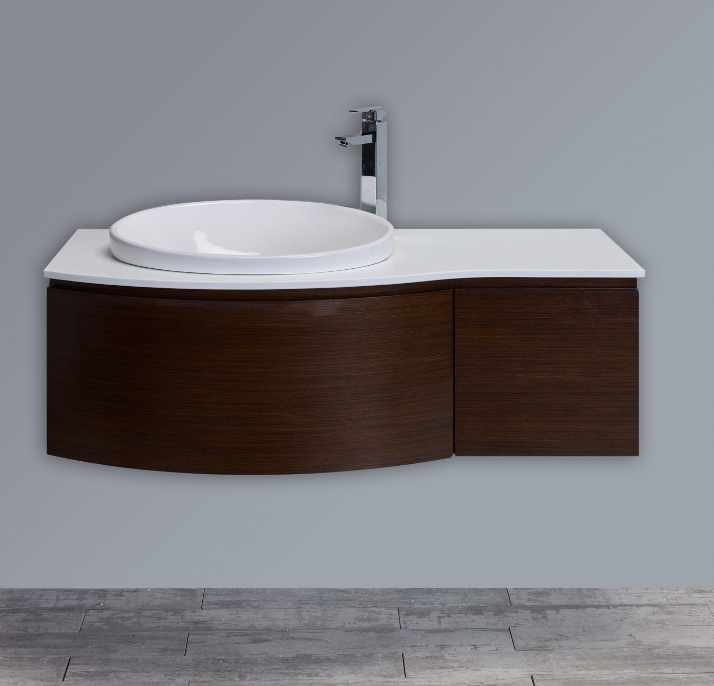 Awesome Websites Eviva Curvy u Iron Wood Modern Bathroom Vanity Wall Mount with Glassos Counter