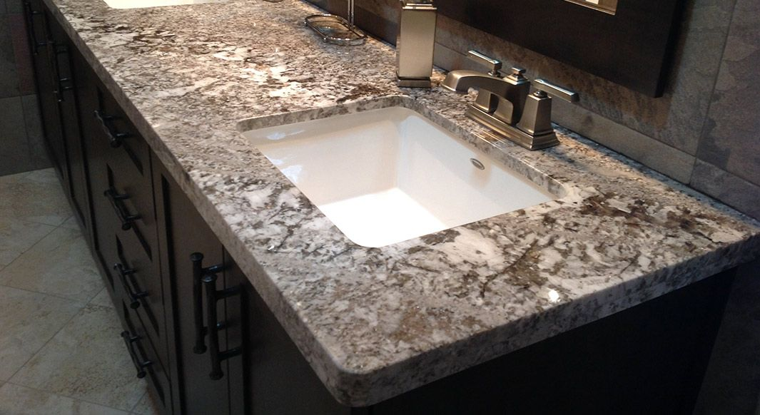 Bianco Antico Granite Flat Eased Edge Profile Granite Bianco