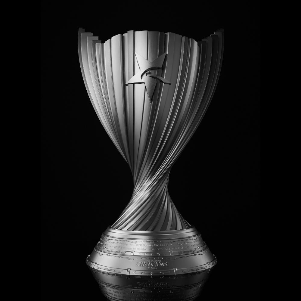 League Fo Legends Champions Korea Trophy On Behance Trophy Design League Of Legends Trophy Art