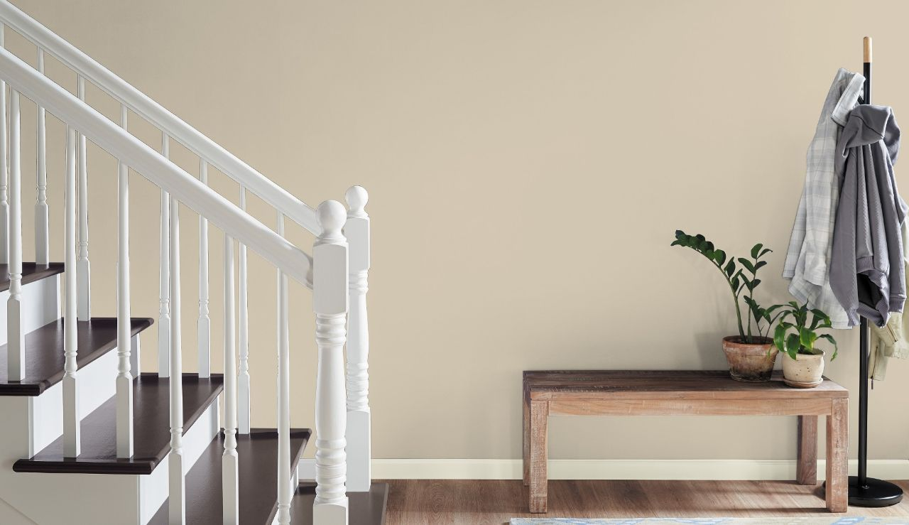 smallbathroom natural almond ppu4 12 in 2020 home depot on home depot behr paint colors id=95549