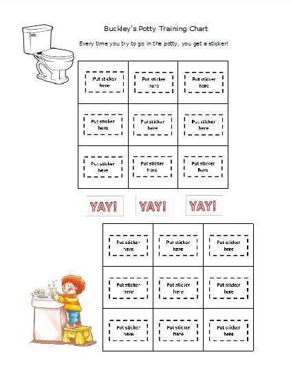 PottyTraining Sticker Chart  Potty Training Sticker Chart