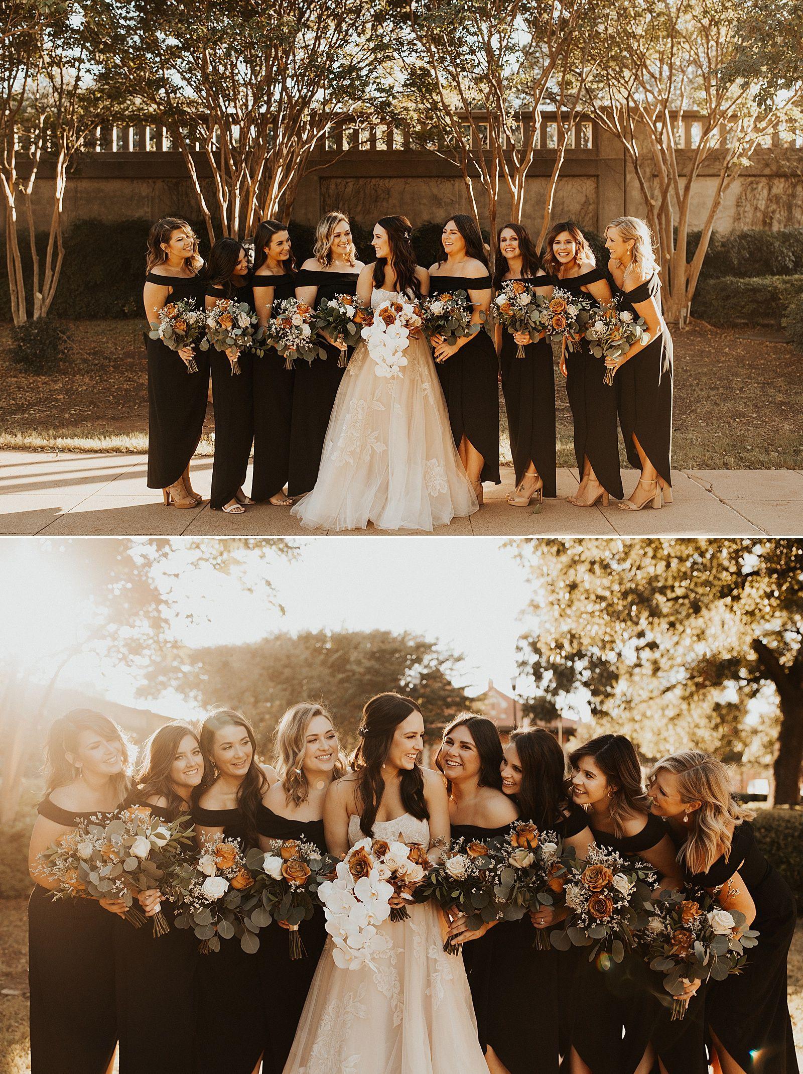 Grace Museum Wedding In Abilene Tx Lauren Alex Meg Amorette Photography Black Bridesmaid Dresses Fall Wedding Fall Bridesmaid Dresses [ 2139 x 1600 Pixel ]