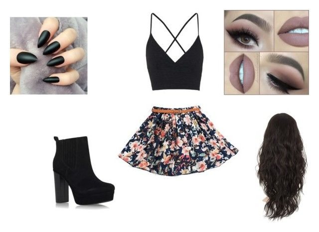 """""""fleur"""" by mlissa645 ❤ liked on Polyvore featuring Miss KG and Topshop"""
