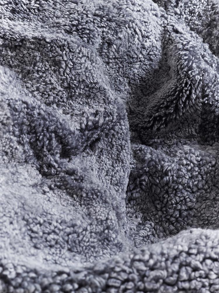 Luxe Grey Curly Sheepskin Beanbag