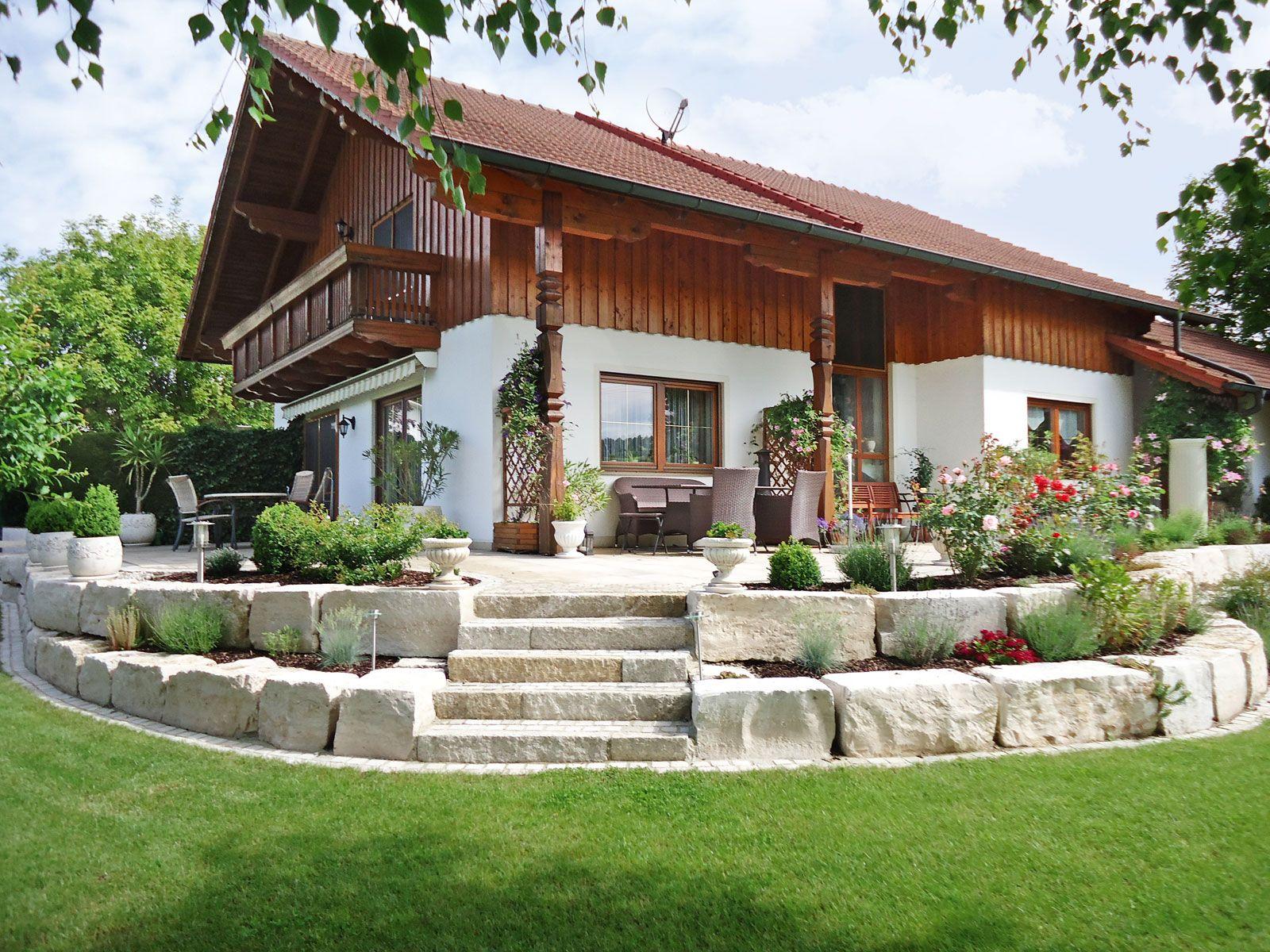 bildergebnis für natursteinmauer terrasse stufen | garten | pinterest