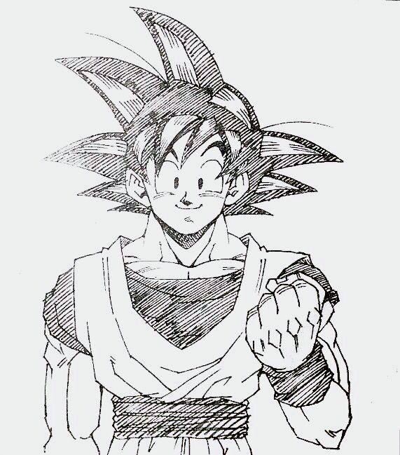 How To Draw Goku Pinterest