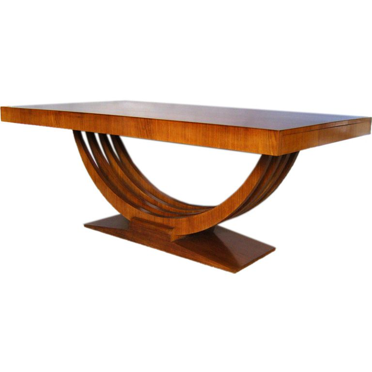 Art Deco Dining Table From A Unique Collection Of Antique And