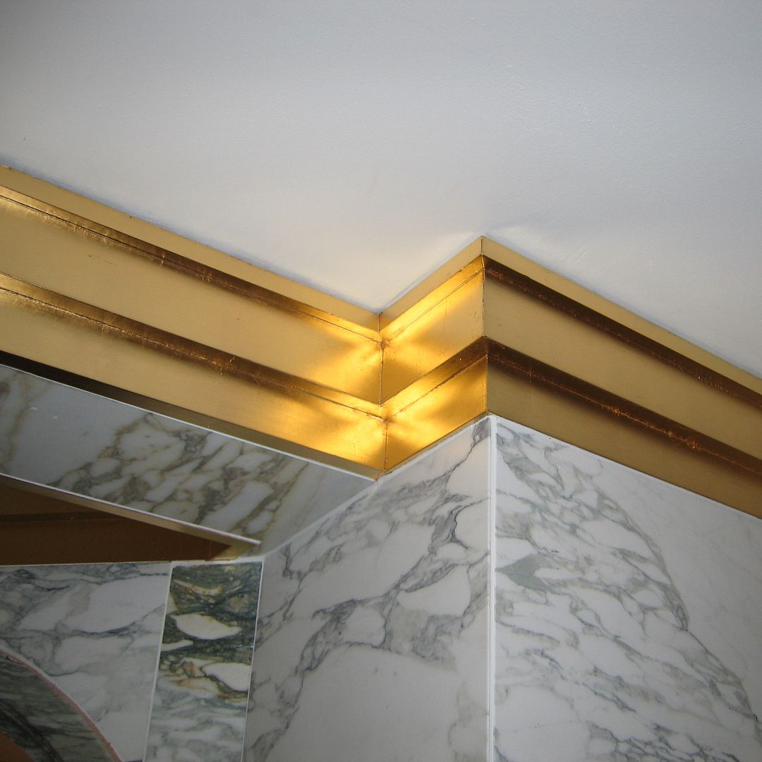 Getting A Quick Tbt Post In Some Gilded Crown Moldings In A