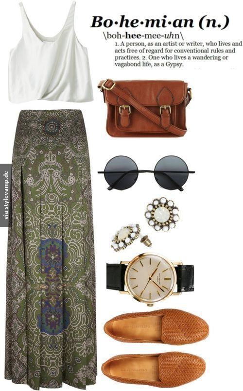 boho chic #springskirtsoutfits