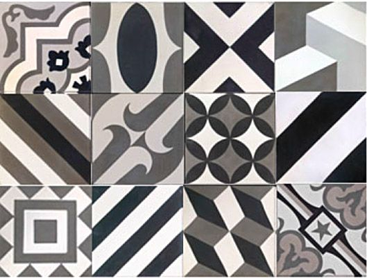 black white gray patterned floor tile cubic mixed brazilian google search textures. Black Bedroom Furniture Sets. Home Design Ideas