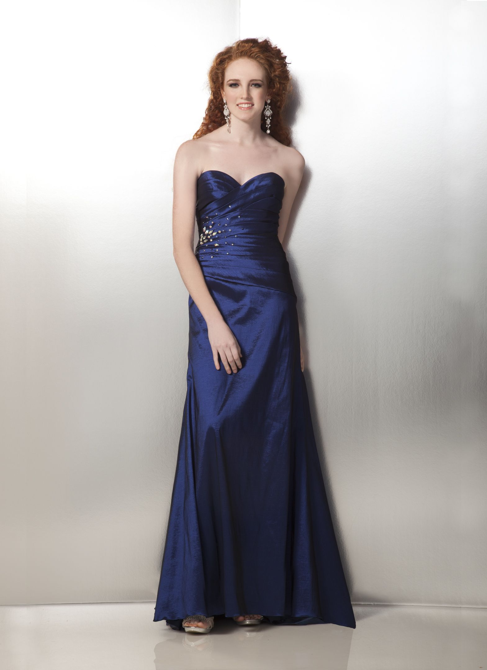 Clarisse style sweetheart neckline navy blue prom dress