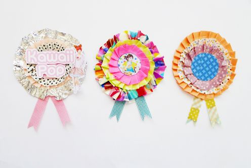 my life as a magazine - paper and washi tape rosettes