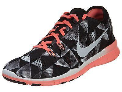 78ab72ef0a18 Nike Free 5.0 Tr Fit 5 Print Womens 704695-006 Black Lava Training Shoes Sz  9.5