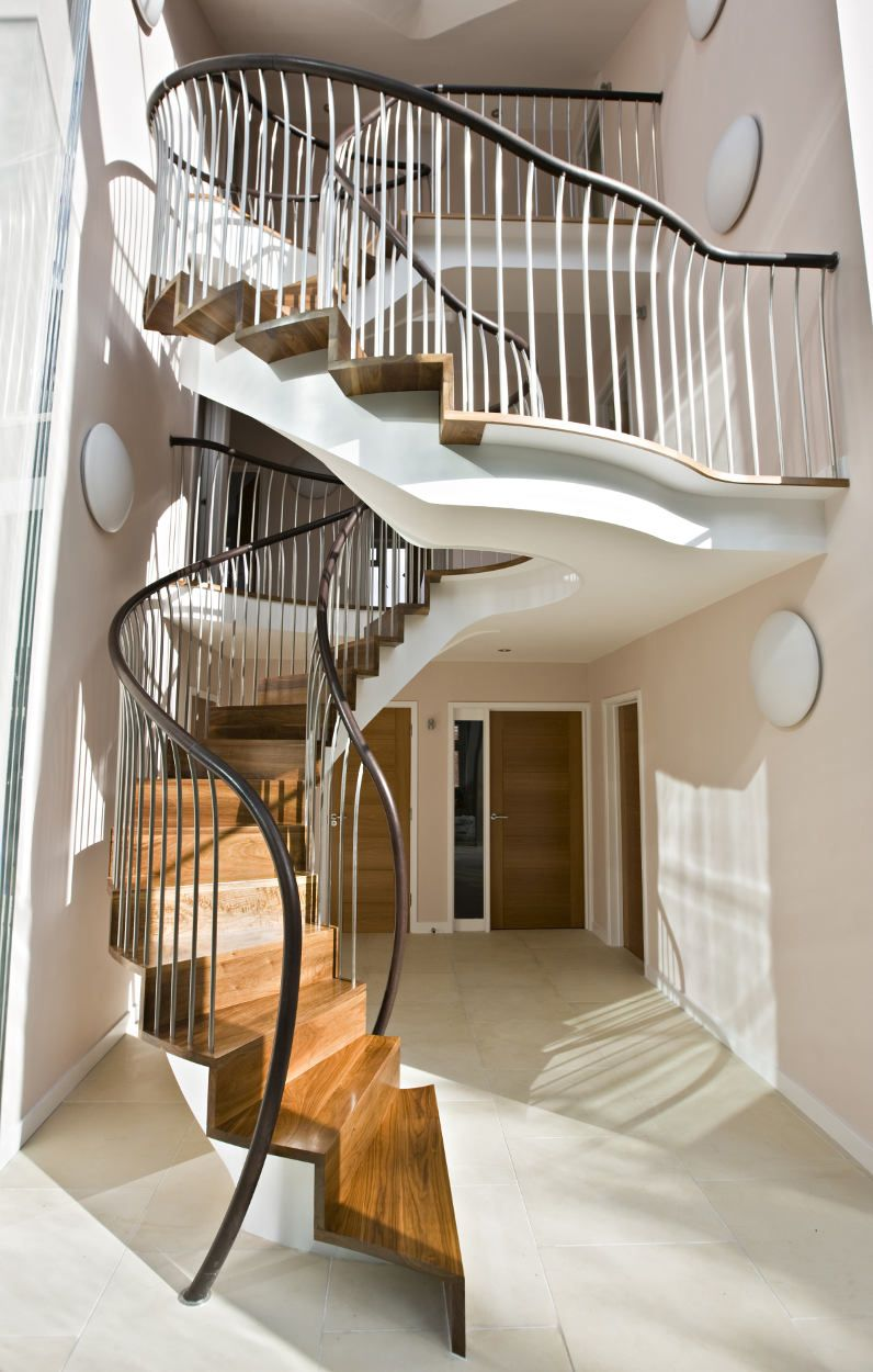 Best Architecture Design Ideas And A Half Revolving Staircase 400 x 300