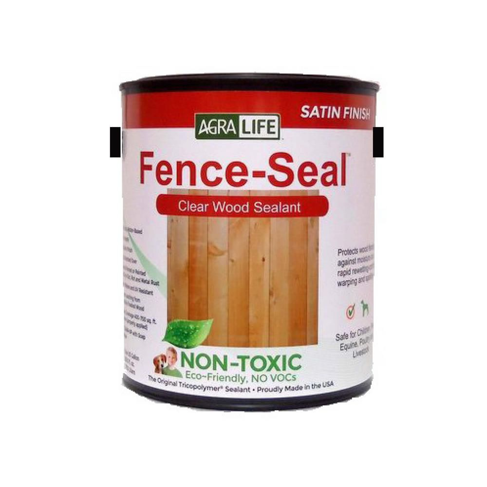 Tricopolymer Voc Free Non Toxic Fence Seal 1 Gal Clear Satin Wood Sealer Wood Sealer Wood Sealant Sealant