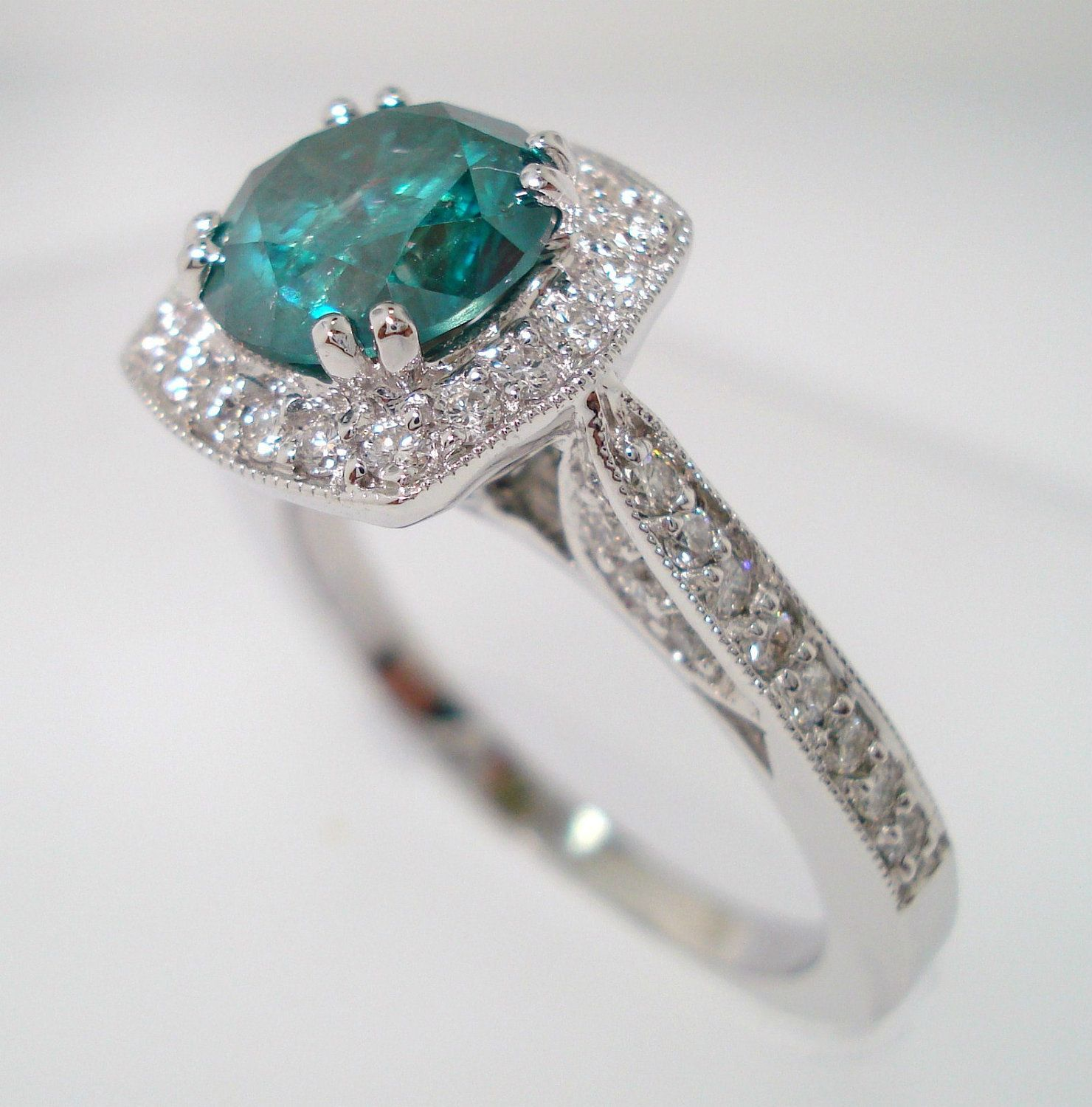 pave engagement white jewellery diamond handmade gold certified greenish set carat blue ring rings pin