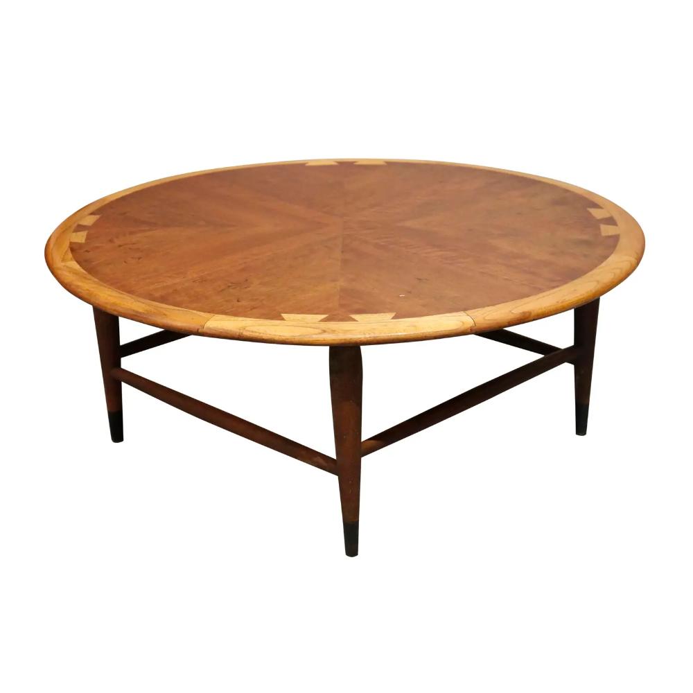 1960s Mid Century Lane Round Walnut Coffee Table Chairish Coffee Table Round Walnut Coffee Table Lane Coffee Table [ 1000 x 1000 Pixel ]