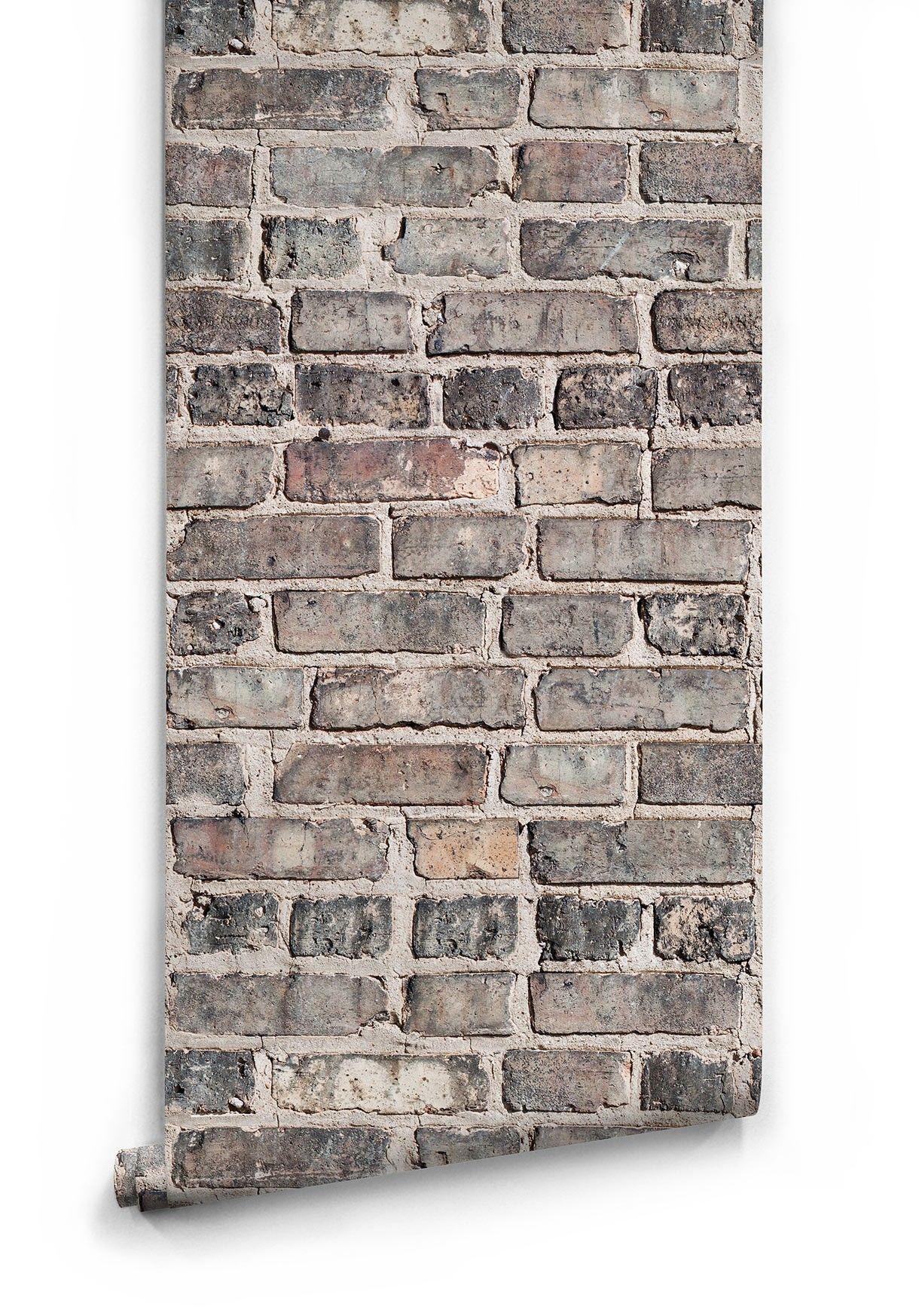 Vintage Bricks Wallpaper Realistic Authentic Brick Wallpaper White Brick Wallpaper Exposed Brick Wallpaper